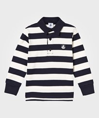 Petit Bateau Navy and White Jersey Polo 57