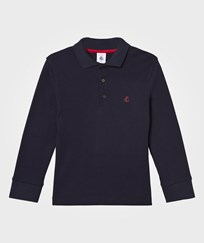 Petit Bateau Navy Jersey Polo with Logo 84