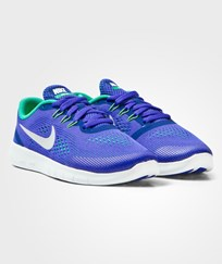 NIKE Blue and Platinum Free Run Junior Trainers PARAMOUNT BLUE/PURE PLATINUM