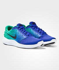 NIKE Blue and Black Lunarstelos Junior Trainers PARAMOUNT BLUE/BLACK-STADIUM GREEN-WHITE