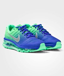 NIKE Blue and White Air Max 2017 Junior Trainers PARAMOUNT BLUE/WHITE-ELECTRO GREEN