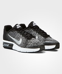 NIKE Black and Silver Air Max Sequent 2 Junior Trainers BLACK/METALLIC SILVER-DARK GREY