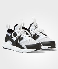 NIKE White and Black Huarache Run Ultra Kids Trainers White/Black