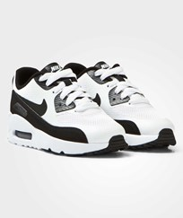 NIKE White and Black Air Max 90 Ultra 2.0 Kids Trainers WHITE/BLACK-WHITE