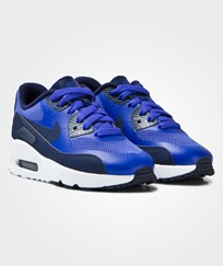 NIKE Blue Air Max 90 Ultra 2.0 Kids Trainers PARAMOUNT BLUE/BINARY BLUE-WHITE