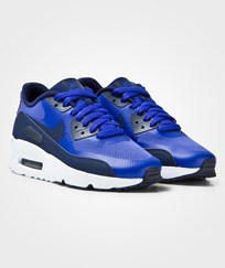 NIKE Blue Air Max 90 Ultra 2.0 Junior Trainers PARAMOUNT BLUE/BINARY BLUE-WHITE