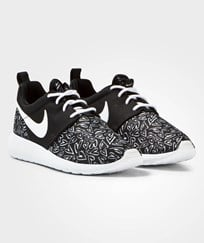 NIKE Black Printed Roshe One Junior Trainers BLACK/WHITE-LAVA GLOW