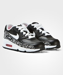 NIKE Black Printed Air Max 90 Trainers BLACK/WHITE-LAVA GLOW