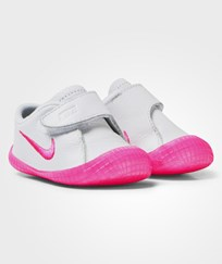NIKE White and Pink Waffle 1 Crib Trainers WHITE/PINK POW