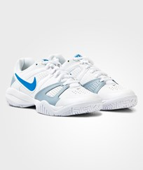 NIKE White and Blue City Court 7 Laced Trainers White/Blue