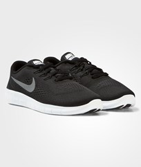 NIKE Black Nike Free Run Trainer BLACK/METALLIC SILVER-ANTHRCT