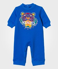 Kenzo Blue Tiger Embroidered Sweat All In One 44