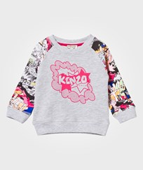 Kenzo Grey Marl and Dancing Cactus Print Sweatshirt 294