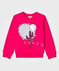 Kenzo Hot Pink Cactus Embroidered and Jewelled Sweatshirt 35