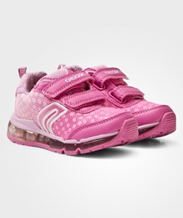 Geox Jr Android Light Up Sneakers Fuchsia & Pink C8230