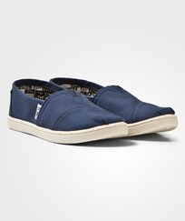Toms Navy Canvas Youth Classics Navy