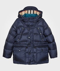 Burberry Down-Filled Hooded Puffer Coat Navy Navy