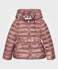 Burberry Bow Detail Puffer Jacket Antique Rose Antique Rose