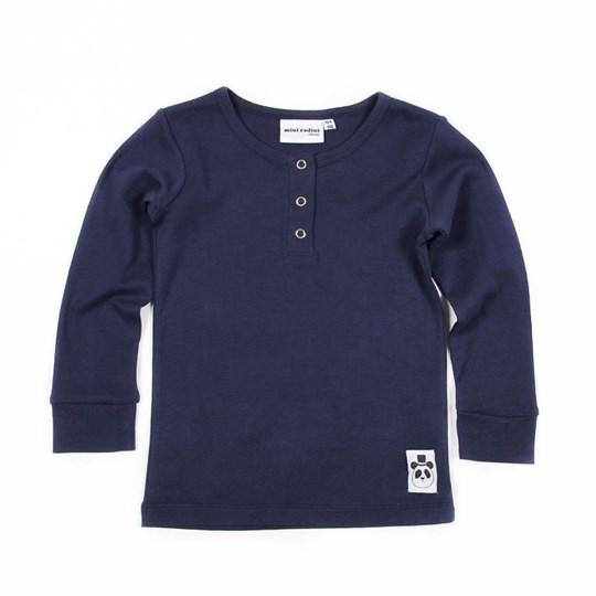 Mini Rodini L/S Grandpa Basic Blue Blue