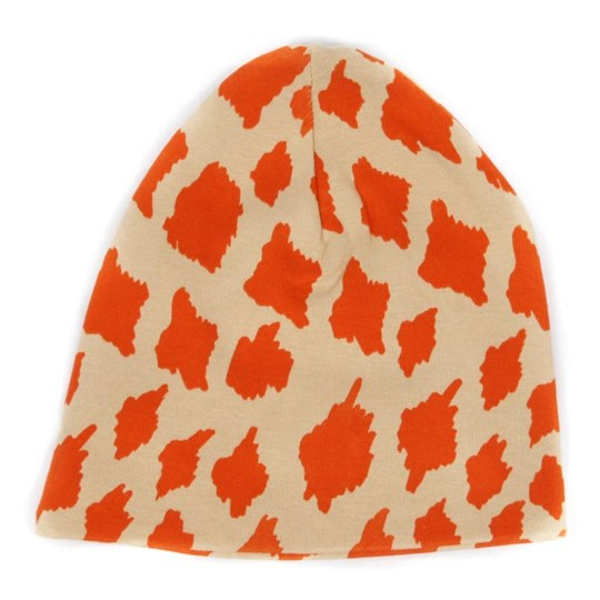 Mini Rodini Beanie Giraffe Beige/Orange Orange