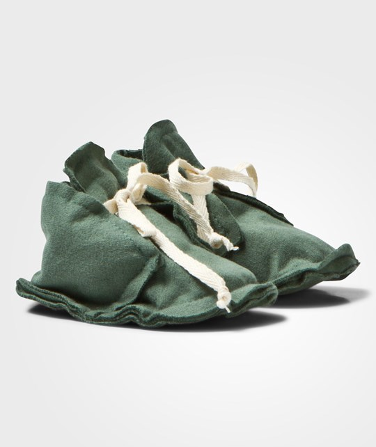 Gray Label Baby Raw Edged Booties Sage Sage