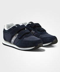 BOSS Navy Suede Trainers 849