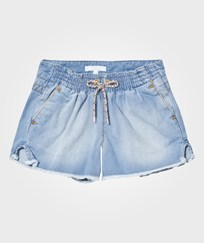 Chloé Blue Chambray Shorts with Tie Waist Z10