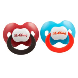 Lundmyr Of Sweden Pacifier 2-pack Blue/Red