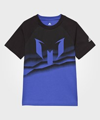 adidas Blue Messi Graphic Tee Blue