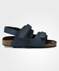 Burberry Mineral Blue Leather Sandals DARK MINERAL BLUE