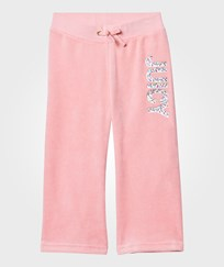 Juicy Couture Pale Peach Jewelled and Glitter Velour Track Pants PARADISE FOUND
