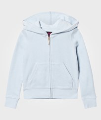 Juicy Couture Ice Blue Jewelled and Glitter Velour Hoody CRYSTAL CLEAR