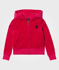 Juicy Couture Red Velour Glitter Hoody MUSE PINK