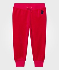 Juicy Couture Red Velour Glitter Track Pants MUSE PINK
