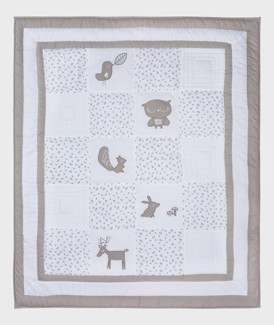 Vinter & Bloom Forest Friends Playmat/Duvet Grey Leaf Grey leaf