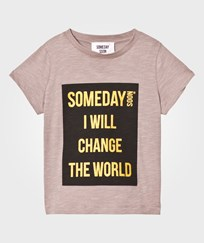 Someday Soon Someday T-shirt Brown BROWN