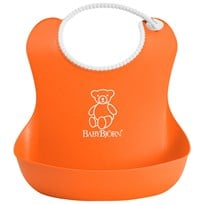 Babybjörn Soft Bib Orange Oransje