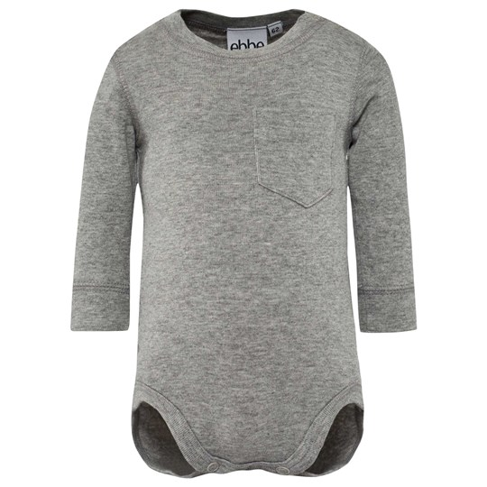 ebbe Kids Emmet Baby Body Grey Melange Black