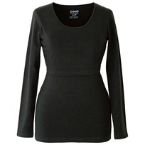 Boob Nursing Top Long Sleeve Black Black