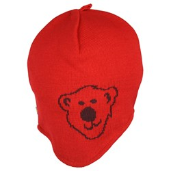 Isbjörn Of Sweden Knitted Cap Logo Red