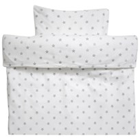 Littleheart Duvet Cover Cradle Grey Stars Black