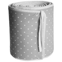 Färg & Form Grey Dots Crib Bumper Black