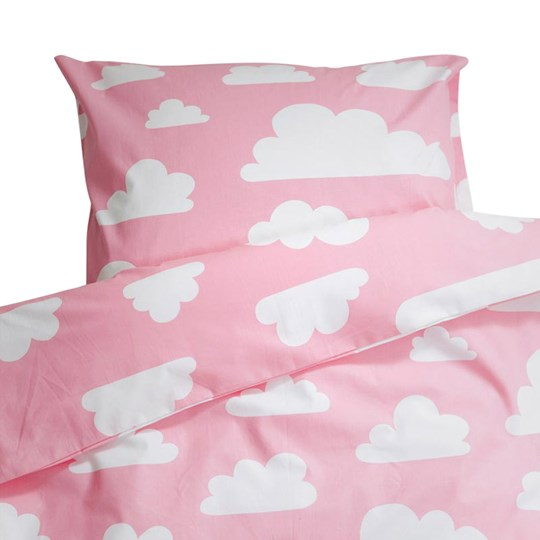 Färg & Form Clouds Pink Crib Duvet Set Pink