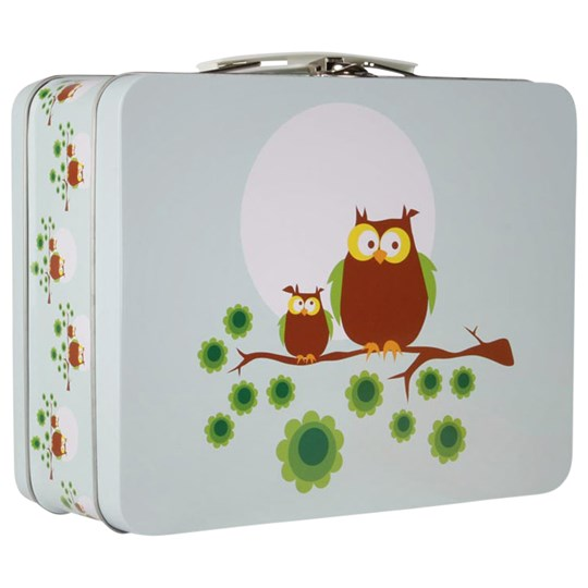Blafre Lunchbox Blue Owls Multi