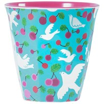 RICE A/S Melamine Cup Turquoise Dove Multi