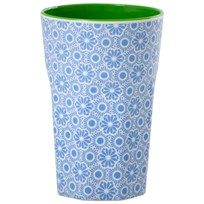 Rice Tall Melamine Latte Cup Blue Marrakesh Blue