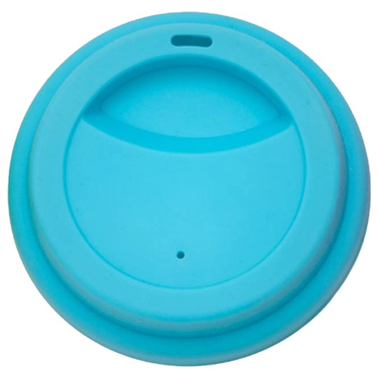 Rice Latte Cup Silicone Lid Turquoise Blue