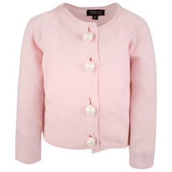 DOLLY by Le Petit Tom Pearled Up Cardigan Pink