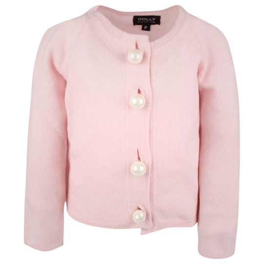 DOLLY by Le Petit Tom Pearled Up Cardigan Pink Pink