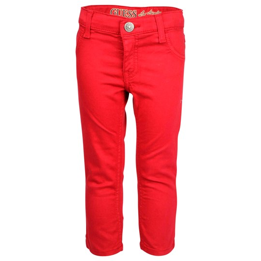 Guess 5 Pkt Pant Vintage Red Red
